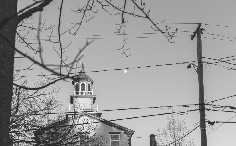 Downtown Bristol, Rhode Island Street Photography: Documenting the end of 2020 with a 50mmlens.